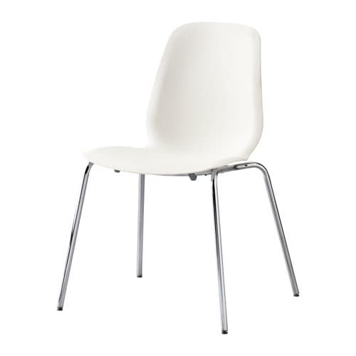 LEIFARNE Chair, white, Broringe chrome plated in 2018 Playroom