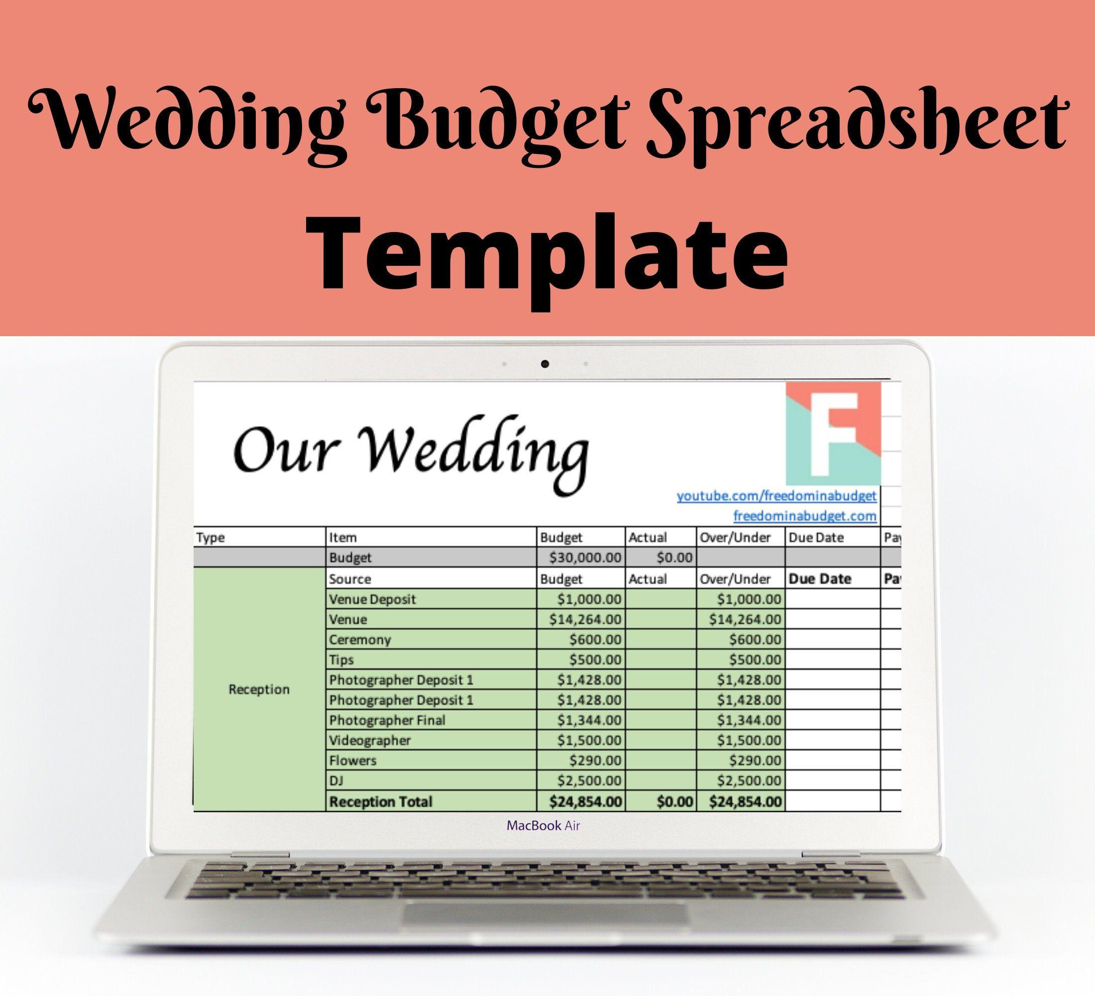Wedding Budget Template Zero-Based Budget Excel Download ...