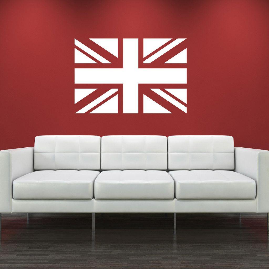 Union jack wall sticker u zygomax ideas for teenage room decor