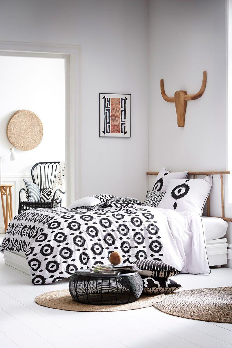 vente today 23190 linge de lit imprim esprit g om trique parure de couette jungle. Black Bedroom Furniture Sets. Home Design Ideas