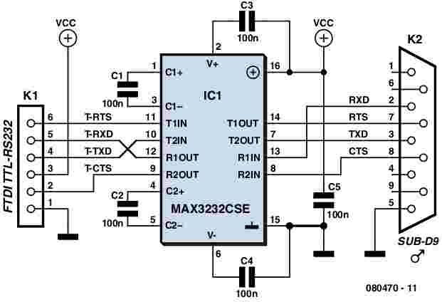 Usb Port To Rs232 Converter Knowledge Pinterest: Usb To Rs232 Schematic Diagram At Imakadima.org