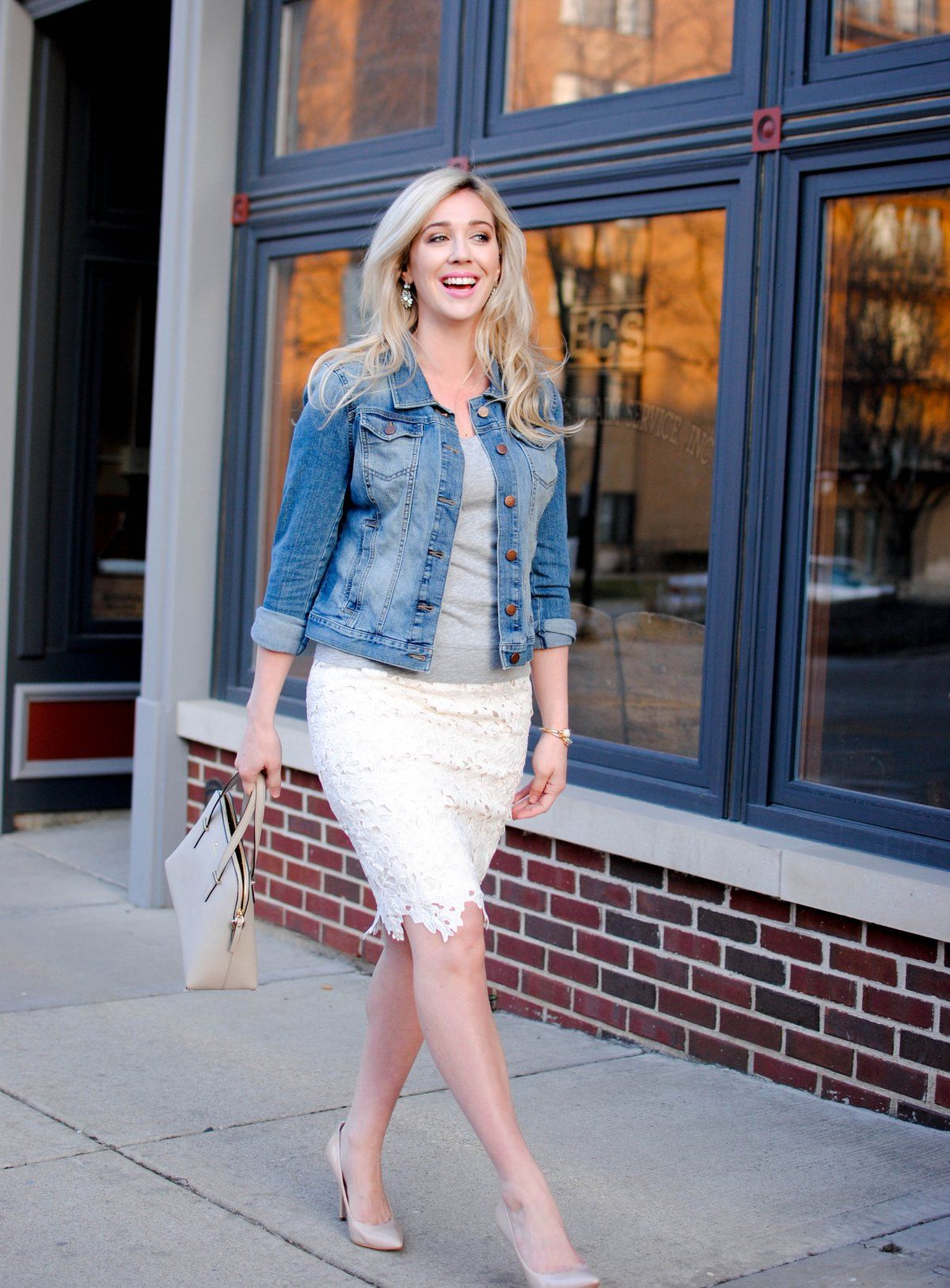 How to straight wear jeans with booties, Waisted high floral skirt