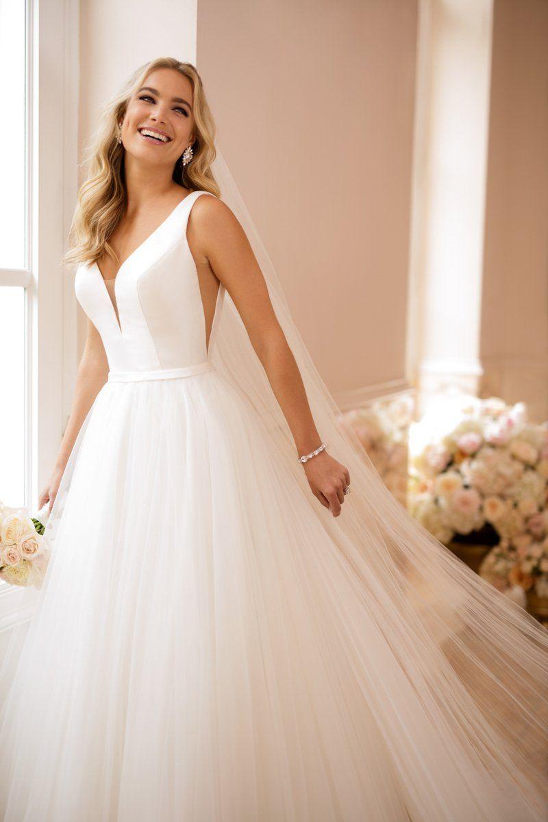 20 Simple Rustic Wedding Dresses Belle The Magazine Wedding Dresses Satin Ball Gown Wedding Dress Off Shoulder Wedding Dress [ 1528 x 615 Pixel ]