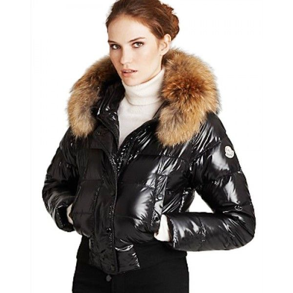 7ca169689 Moncler Alpin Classic Eider Down Jackets Women Fur Collar Black ...