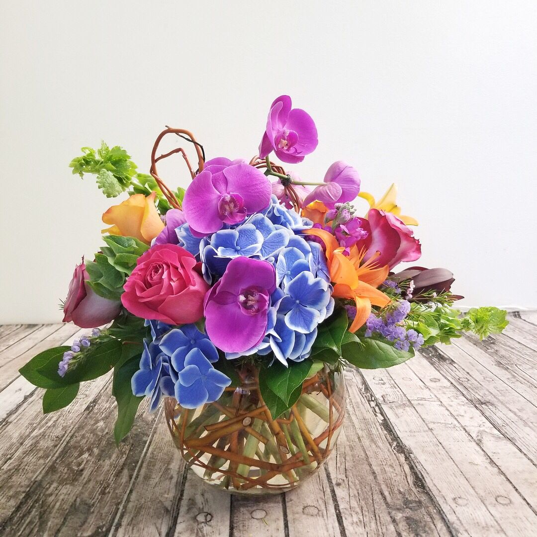 Orchids And Hydrangea Flower Delivery Order Flowers Online Flower Arrangements