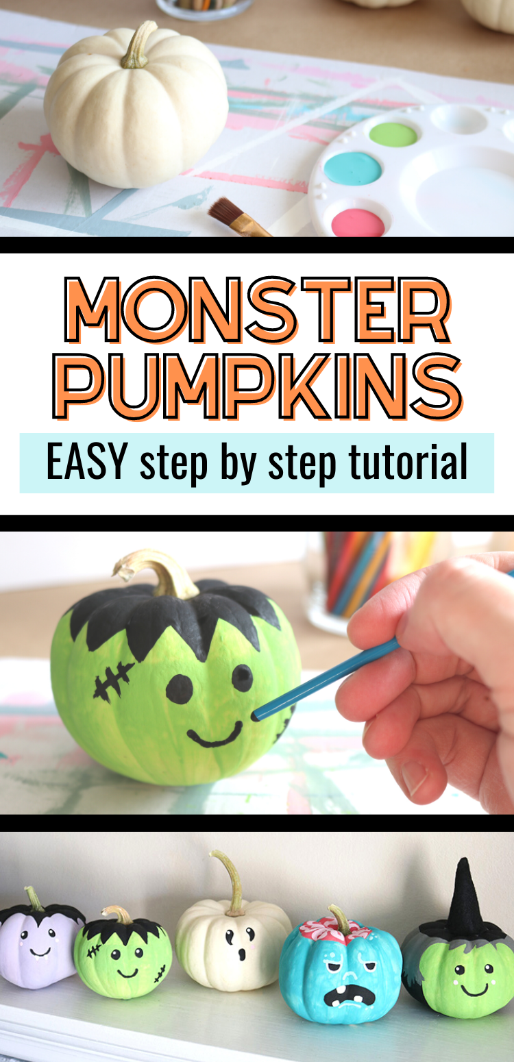 Photo of 5 Painting Tutorials: Simple Monster Pumpkins