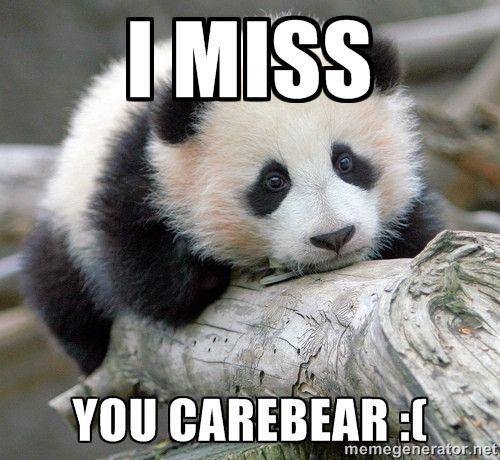 Baby I Miss You Sad Quotes: Sad Panda - I MISS YOU CAREBEAR