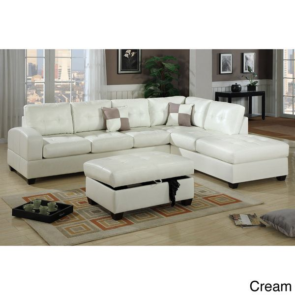 Berane Reversible All Around Bonded Leather Sectional
