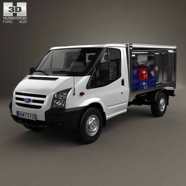 Ford Transit Milk Float Truck 2012 3d Model From Humster3d Com