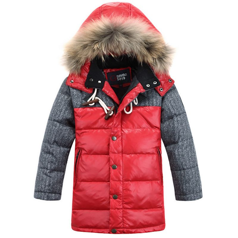 9ec478f4d 2017 Children s Winter Jackets Coats Boys Warm Thicken Hooded With ...
