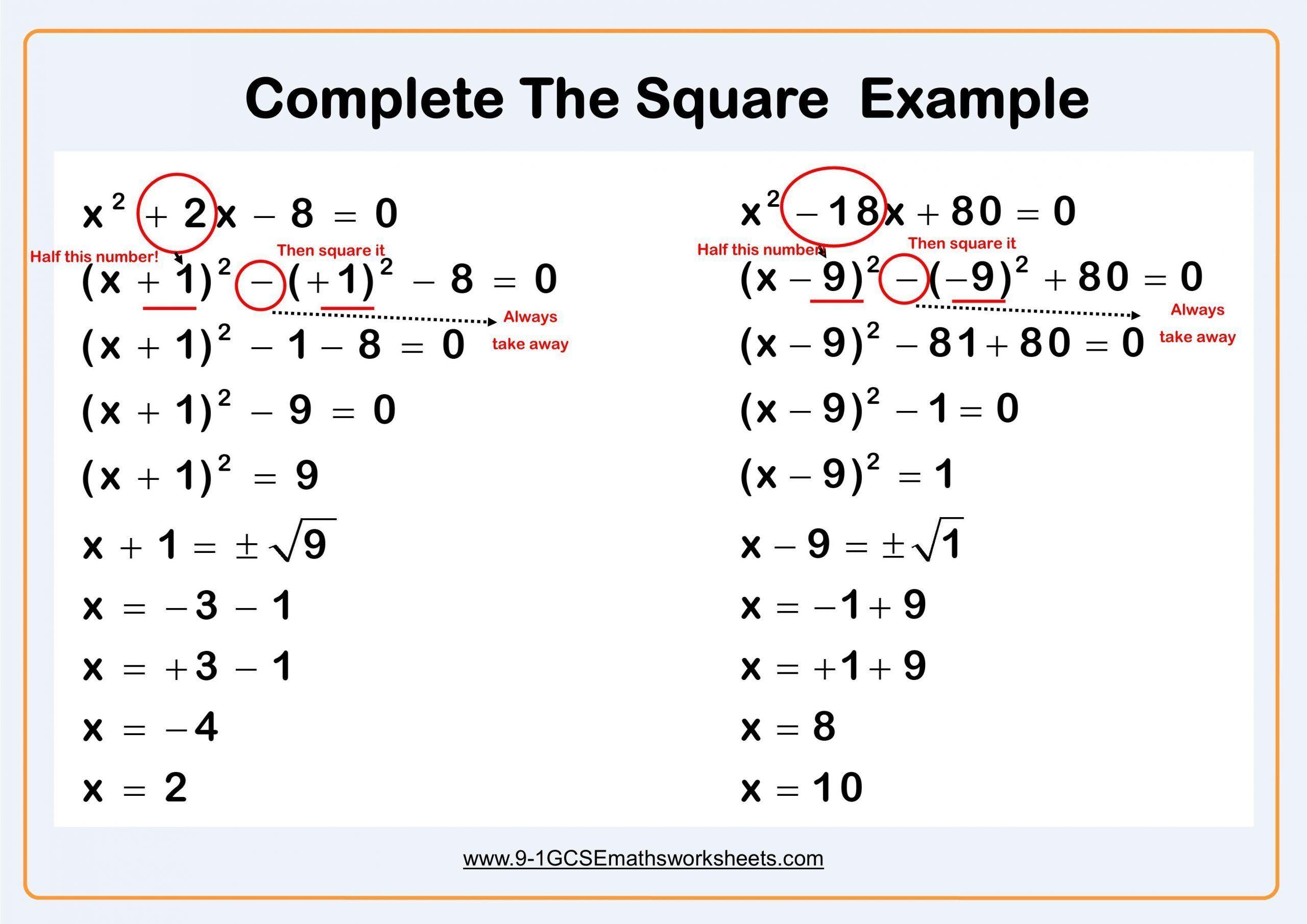 8 4 2 Practice Solving Quadratic Equations By Graphing Worksheet Answers Solving Quadratic Equations Completing The Square Quadratics [ 1810 x 2560 Pixel ]