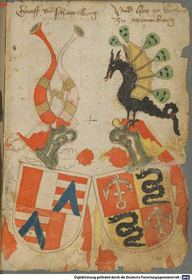 Ortenburger Wappenbuch Bayern, 1466 - 1473 Cod.icon. 308 u  Folio 3r