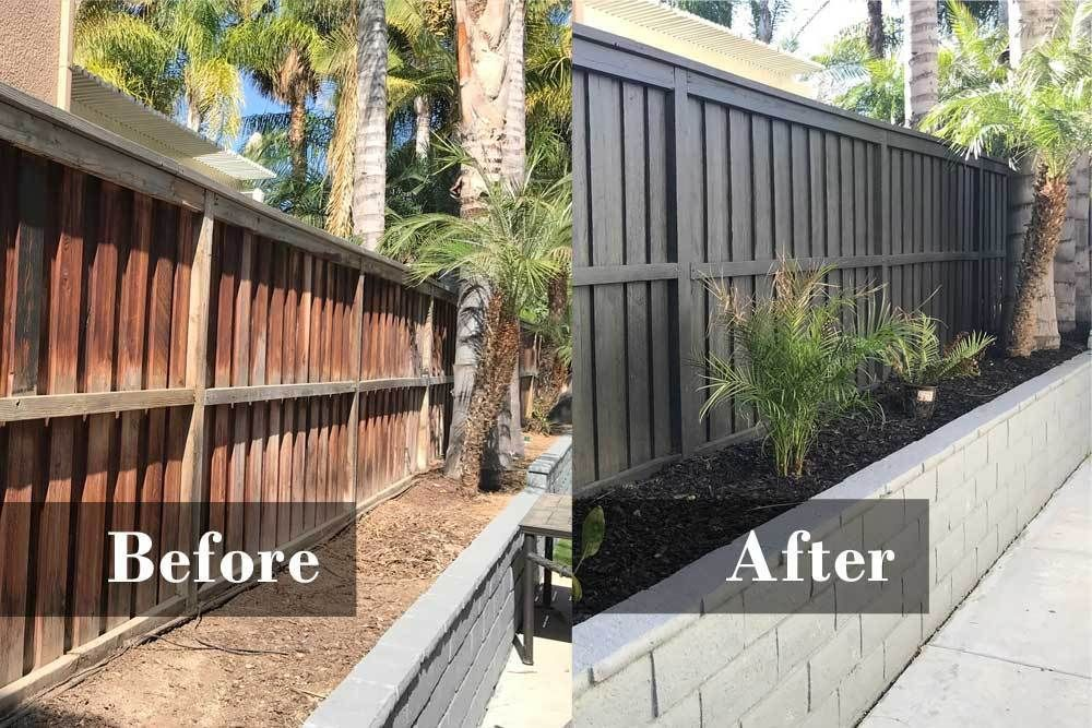 Fence and Block Retaining Wall Renovation #backyardremodel