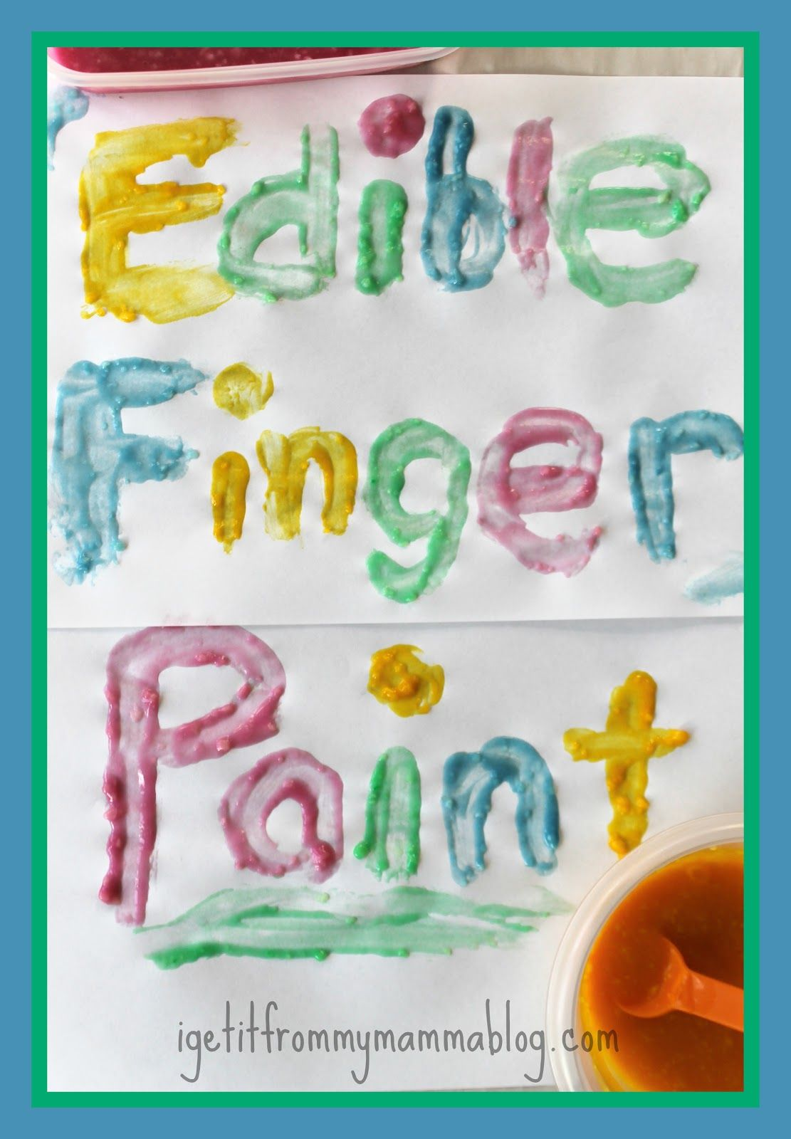 Baby safe paint for crafts - Edible Finger Paint Ideal For Babies And Young Toddlers Who Put Everything In Their Mouths