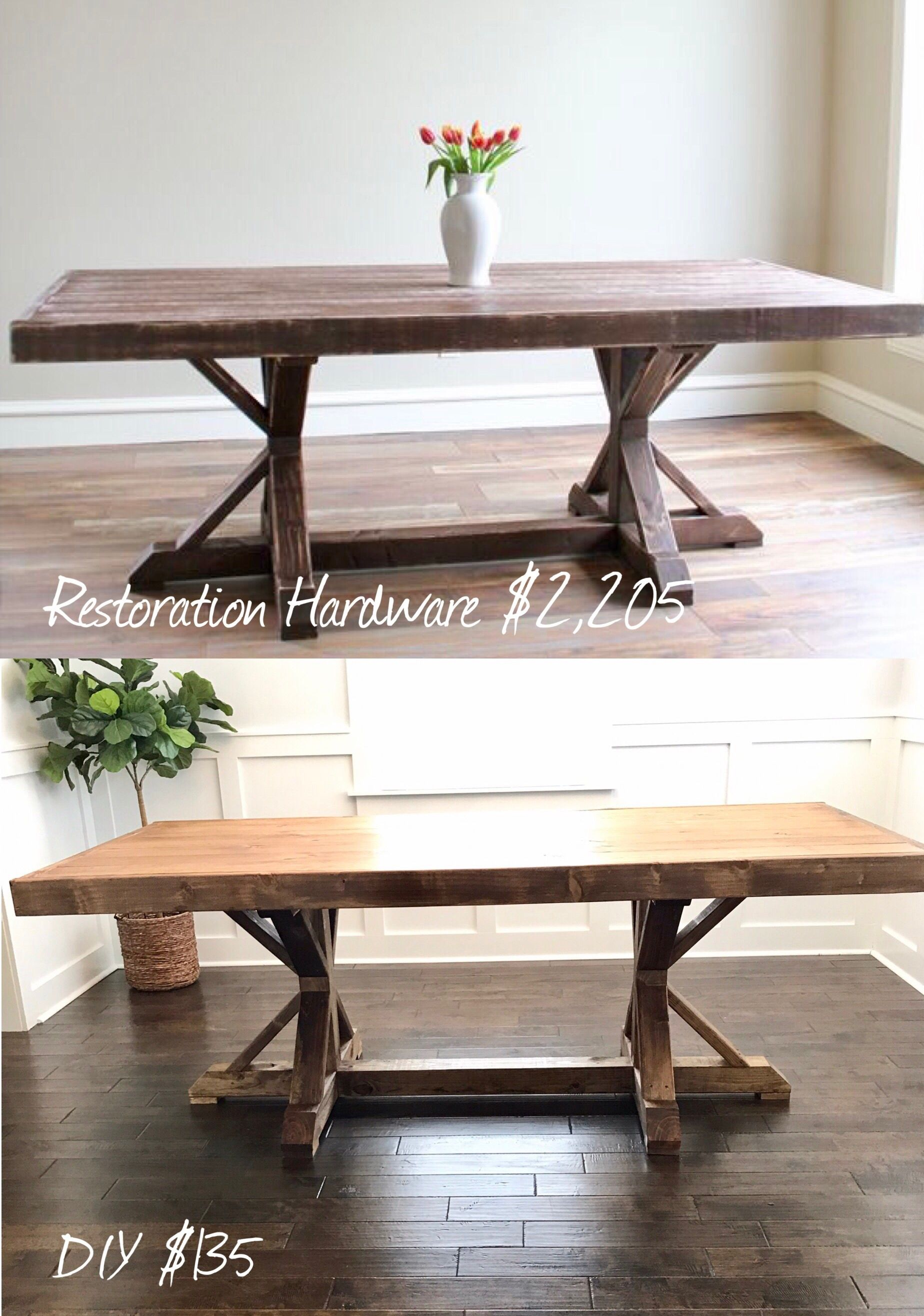 Diy Farmhouse Table Trestle Leg Farmhouse Dining Room Table