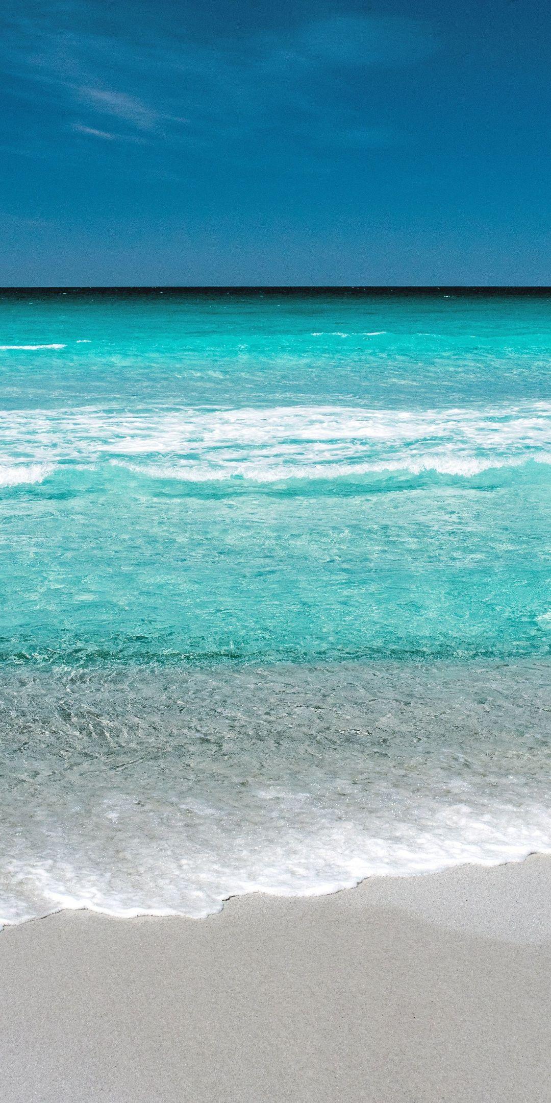 tropical beach sea waves seashore adorable 1080x2160 wallpaper