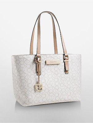 Calvin Klein Womens Jordan Per Tote Bag Handbag