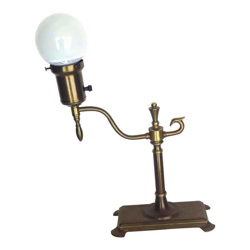 Mid Century Brass Desk Lamp Brass Desk Brass Desk Lamp Desk Lamp