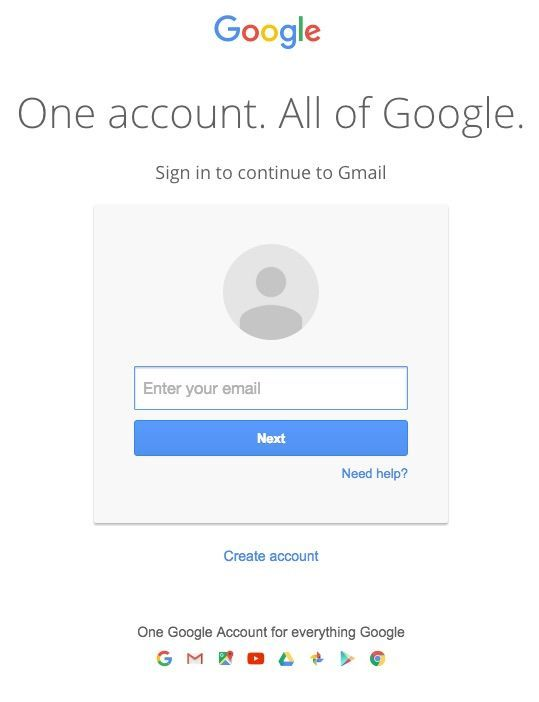 gmail sign in form | Gmail sign, Create your own blog ...