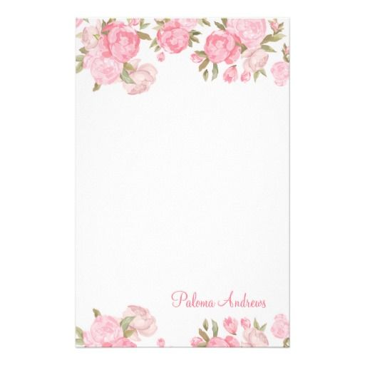 Vintage Floral Stationery Paper Stationery Stationery paper