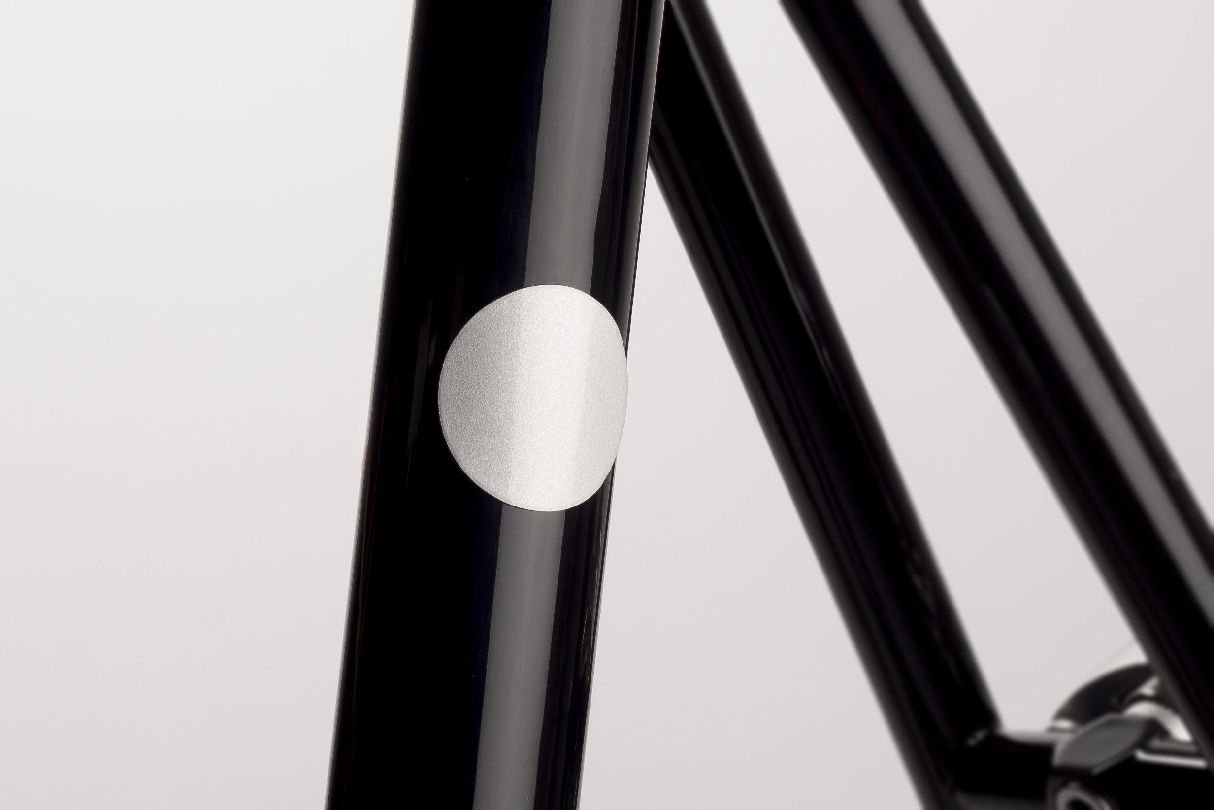 White Magnetic Reflector on Abici Fuga fixie