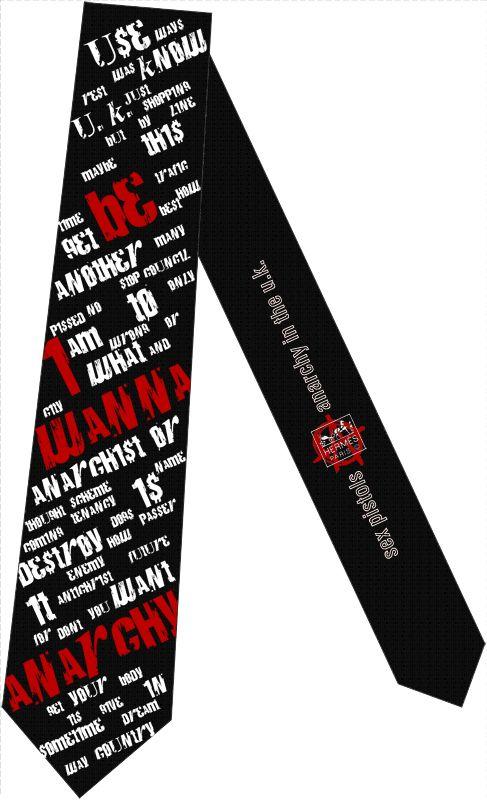 tie design: Sex Pistols - Anarchy in the UK Design by: Henrich Zrubec