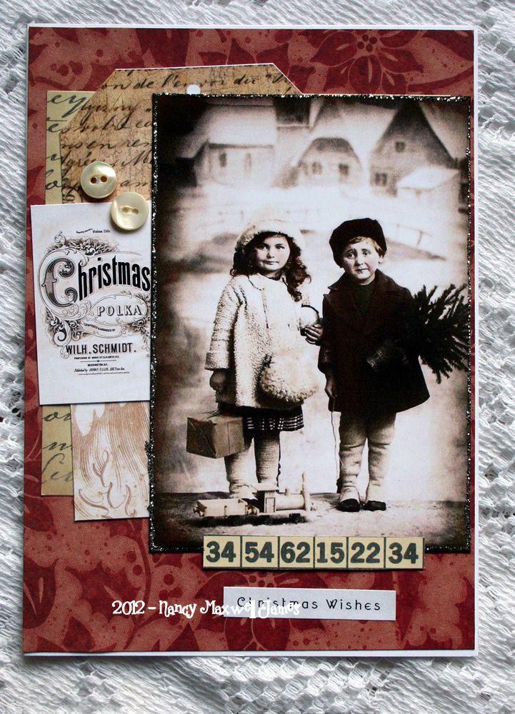 Christmas Wishes HANDMADE Collage Greeting Card | SUGAR LUMP STUDIOS ...
