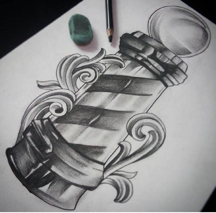 Pin De Ezequiel Gamarra Em Badass Tatuagem De Barbeiro Tatuagem De Tesoura Ideias Para Barbearias