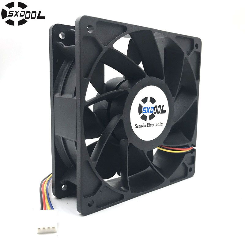 Cooling Fan Replacement D12bm 12d 4 Pin Connector Pwm 12038 12v