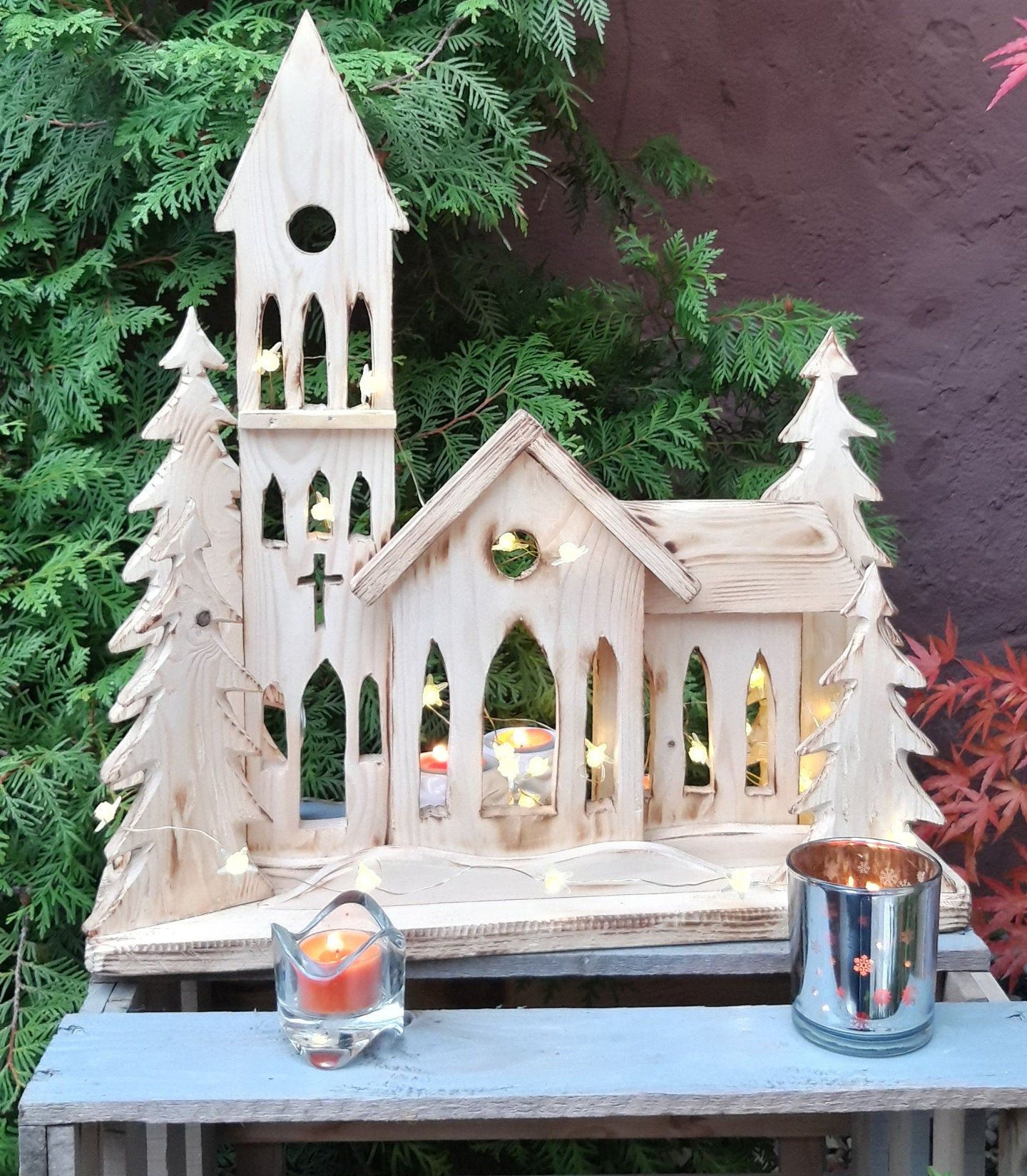 Stand, DEKOIDEE for indoors or outdoors- garden, entrance to the house, terrace,balcony,gift of pallets HOLZ Nature NEW