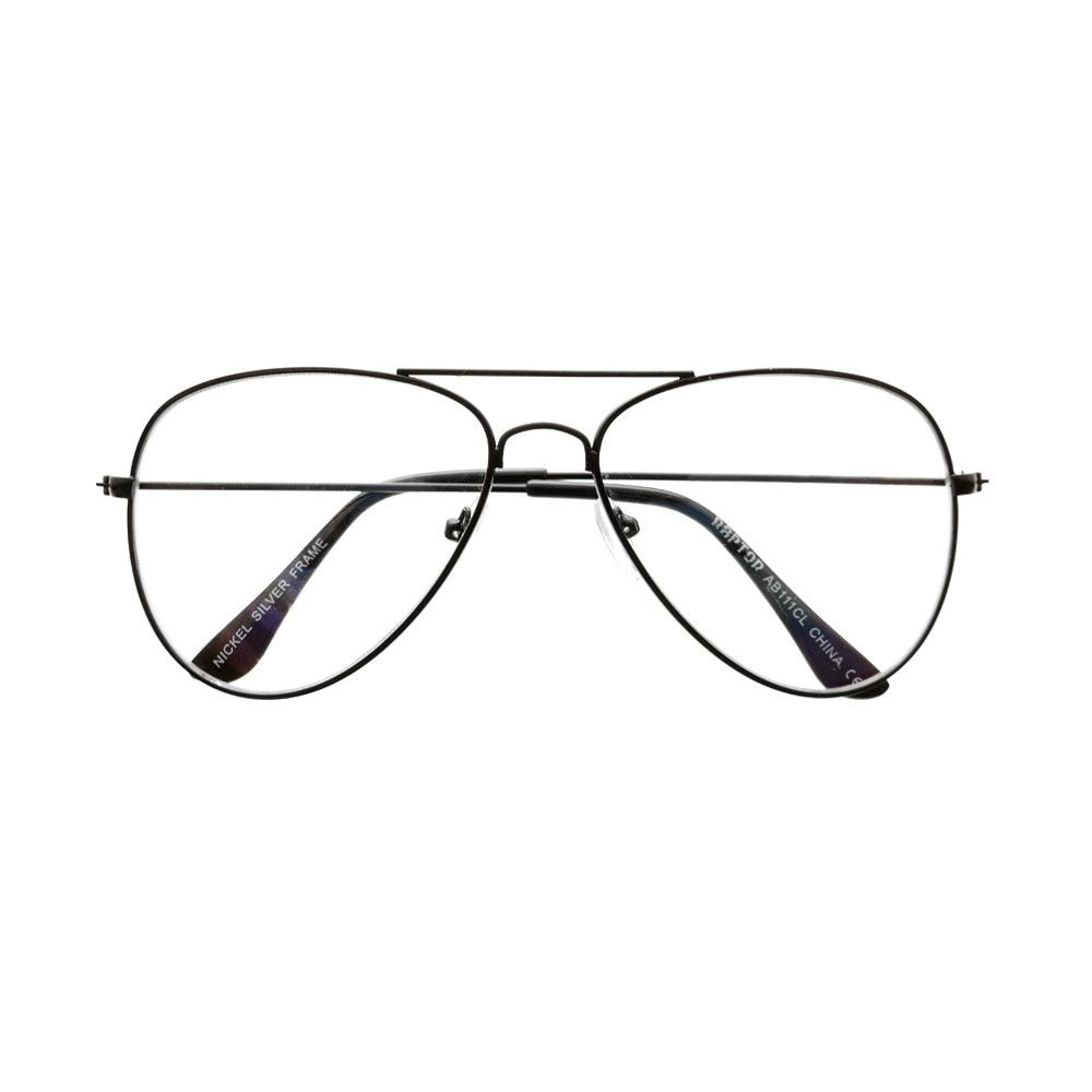 mens womens aviator glasses frames clearlens black metal