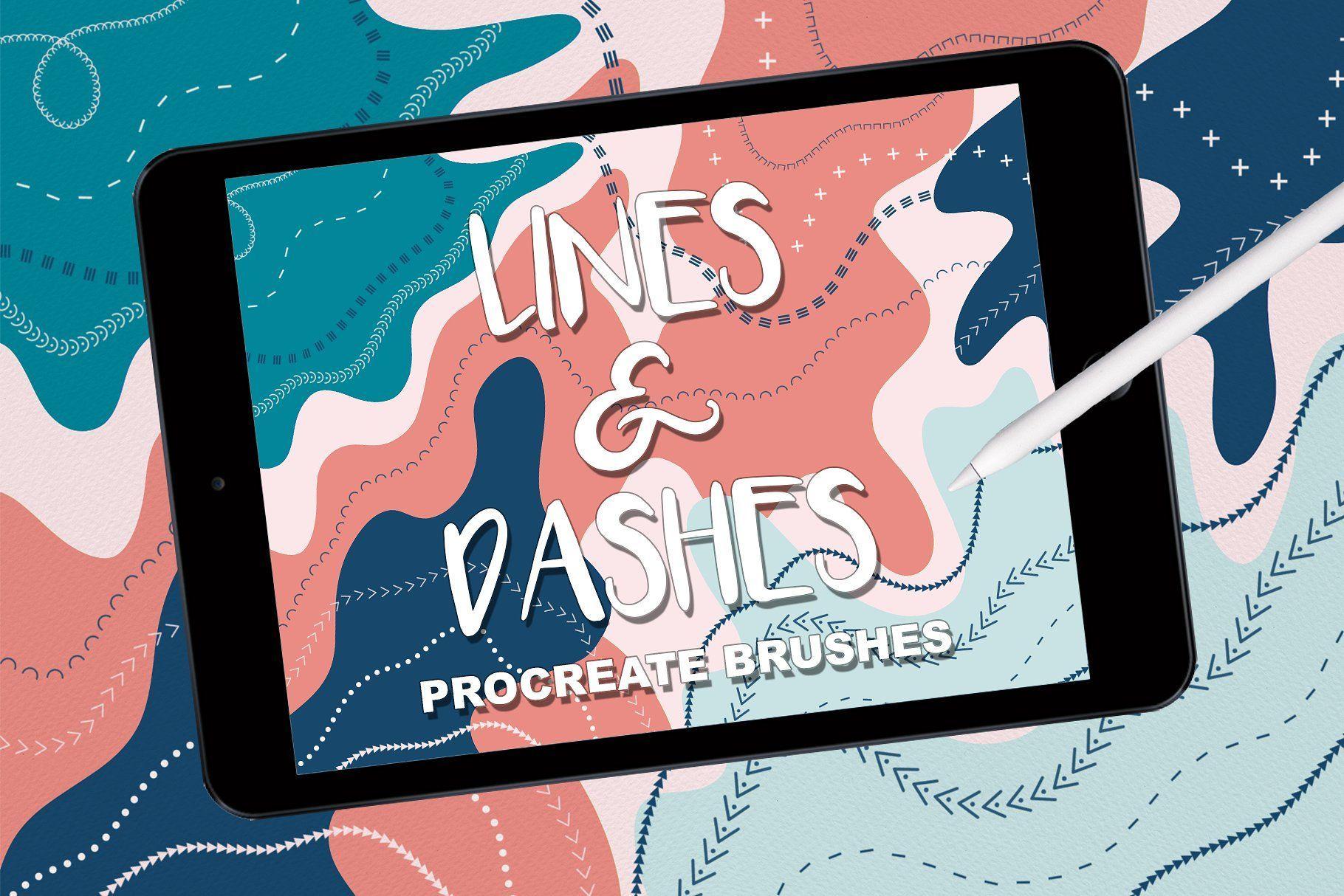 Lines Dashes Procreate Brush Set Procreate Procreate App