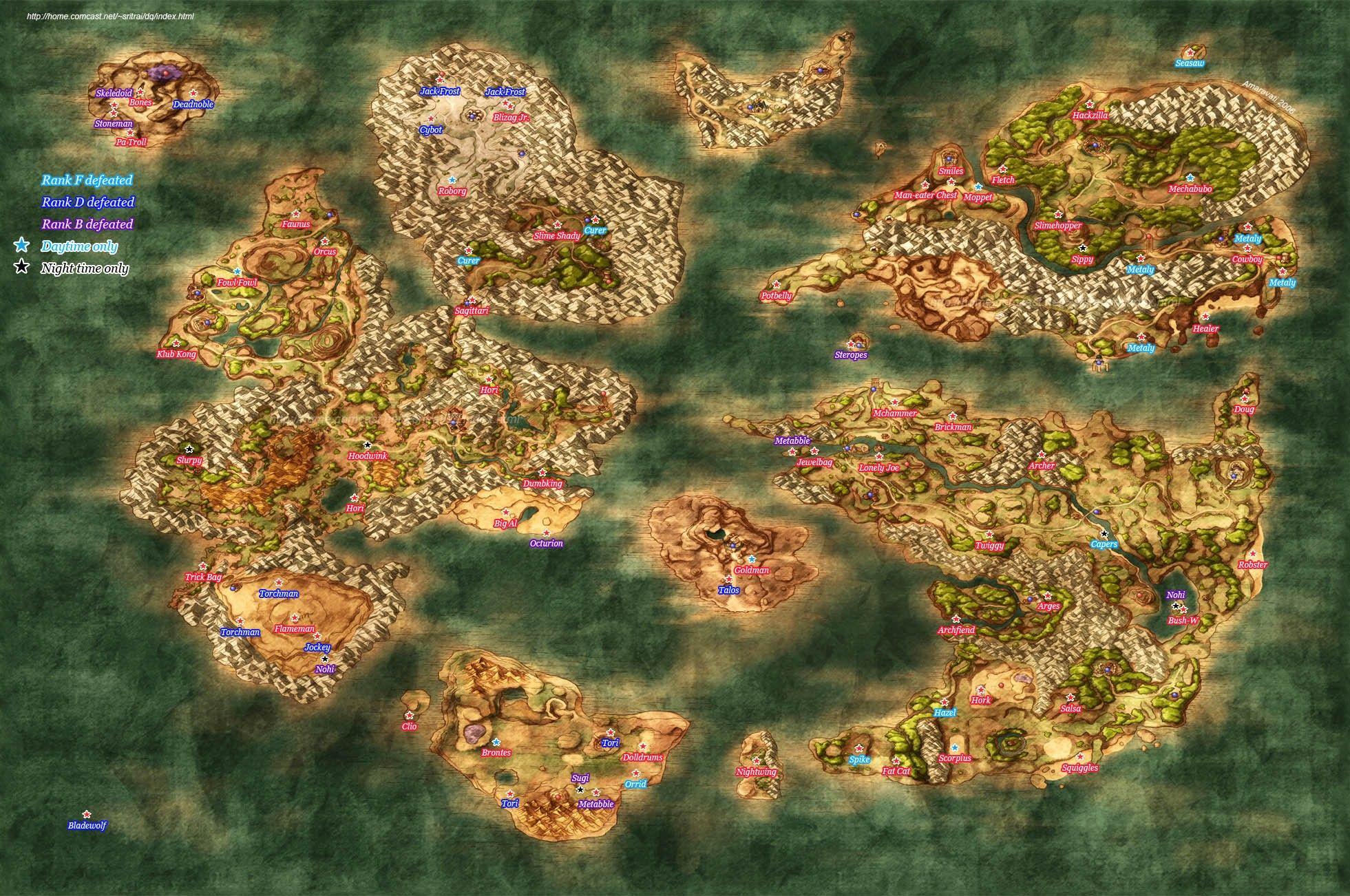 Dragon Quest 8 World Map Dragon Quest VIII   PS2   Dragon, Mapa