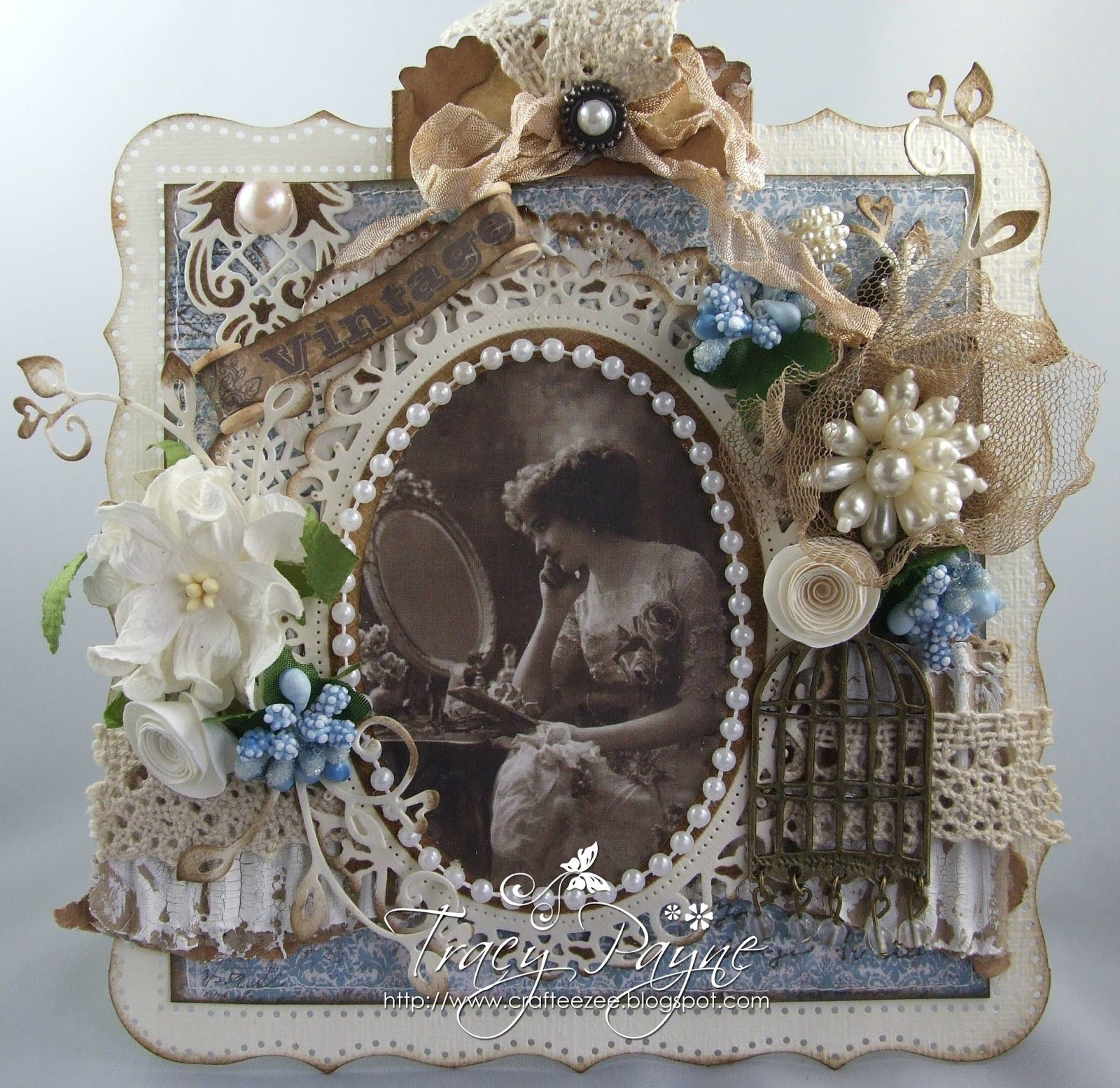 Stunning work!!    Crafteezee: Something Old at Live and Love Crafts