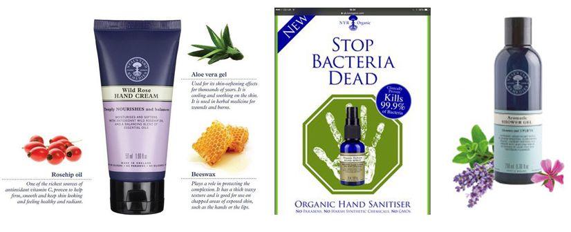 Neal S Yard Remedies Organic Aromatic Shower Gel Wild Rose Hand