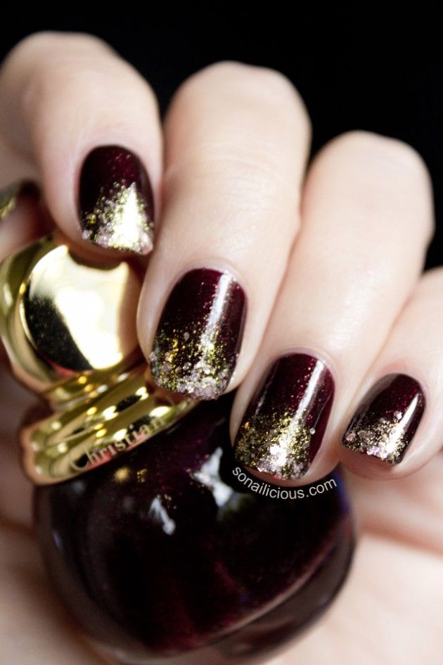 15 Creative Nail Designs for Holidays | Holidays, Gold glitter nails ...