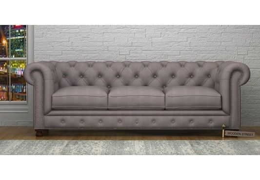 Stella 3 Seater Sofa Fabric Warm Grey The Three Seater Sofas Are Available Online In Numerous Colours And Patte Three Seater Sofa Sofa 3 Seater Sofa