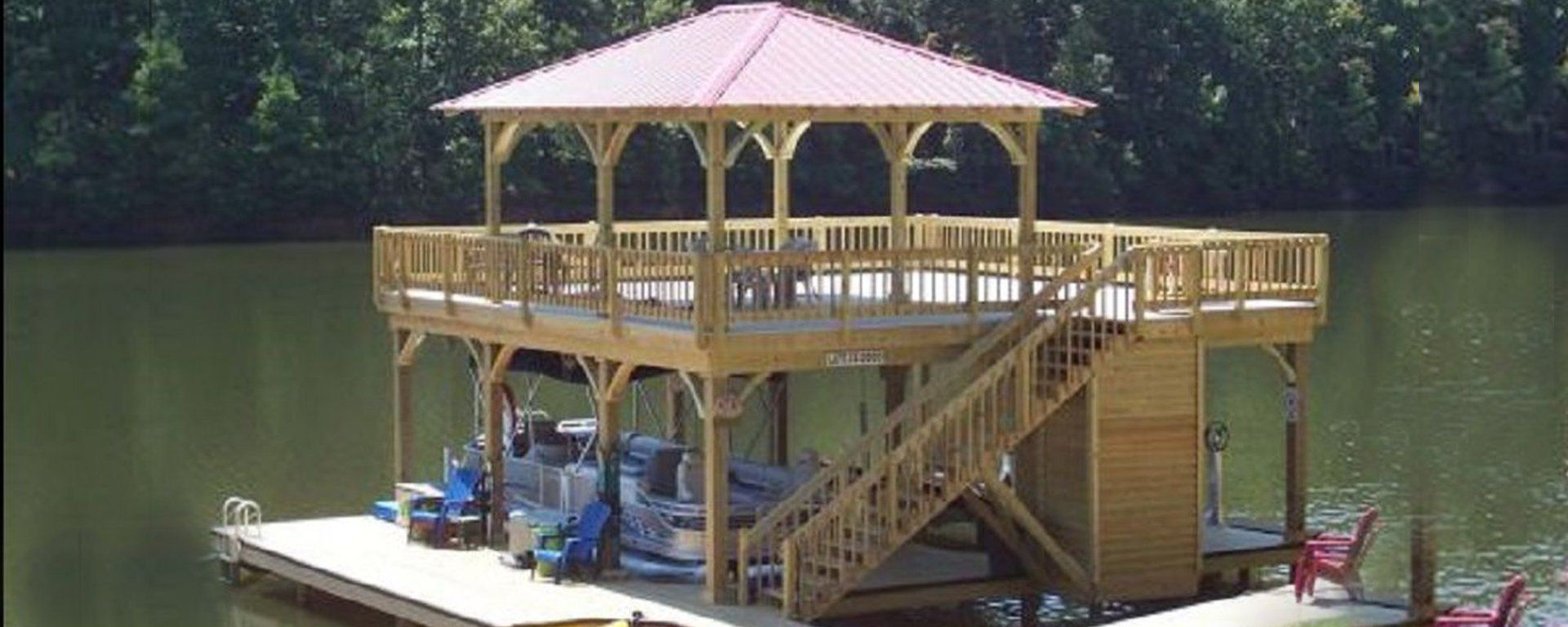Best I Love This Custom Built Boating Dock The Upper Deck Is A 400 x 300