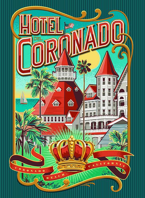 Vintage Travel Posters, Hotel Del Coronado
