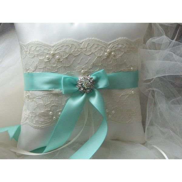 Cuscini Color Tiffany.Tiffany Blue Ring Bearer Pillow 36 95 Ring Pillow Wedding