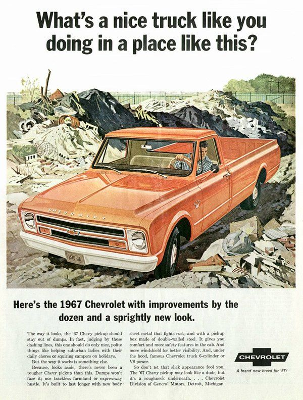 new 1967 chevy pick up