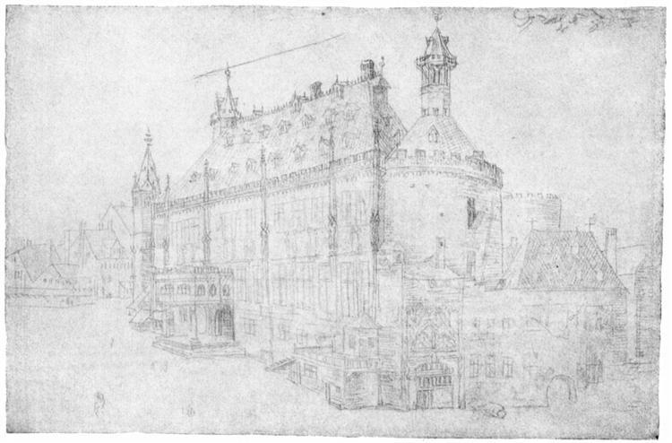 The town hall in Aachen - Alberto Durero. Titulo original: Das Rathhaus in Aachen