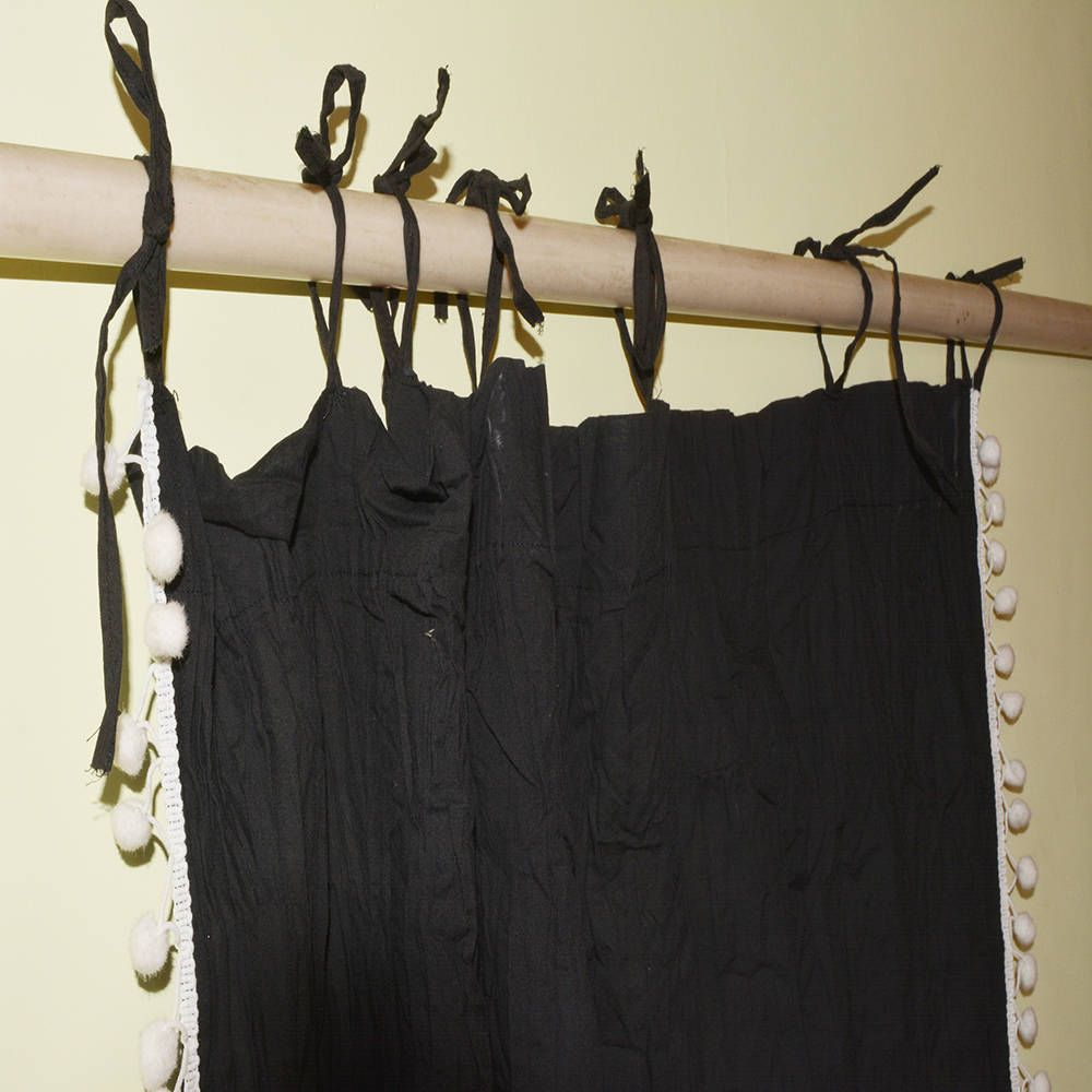 pcs pom pom curtain pom pom decor tassel curtain black curtain
