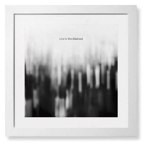 Black and White Bokeh Framed Print, White, Contemporary, Cream, White, Single piece, 16 x 16 inches