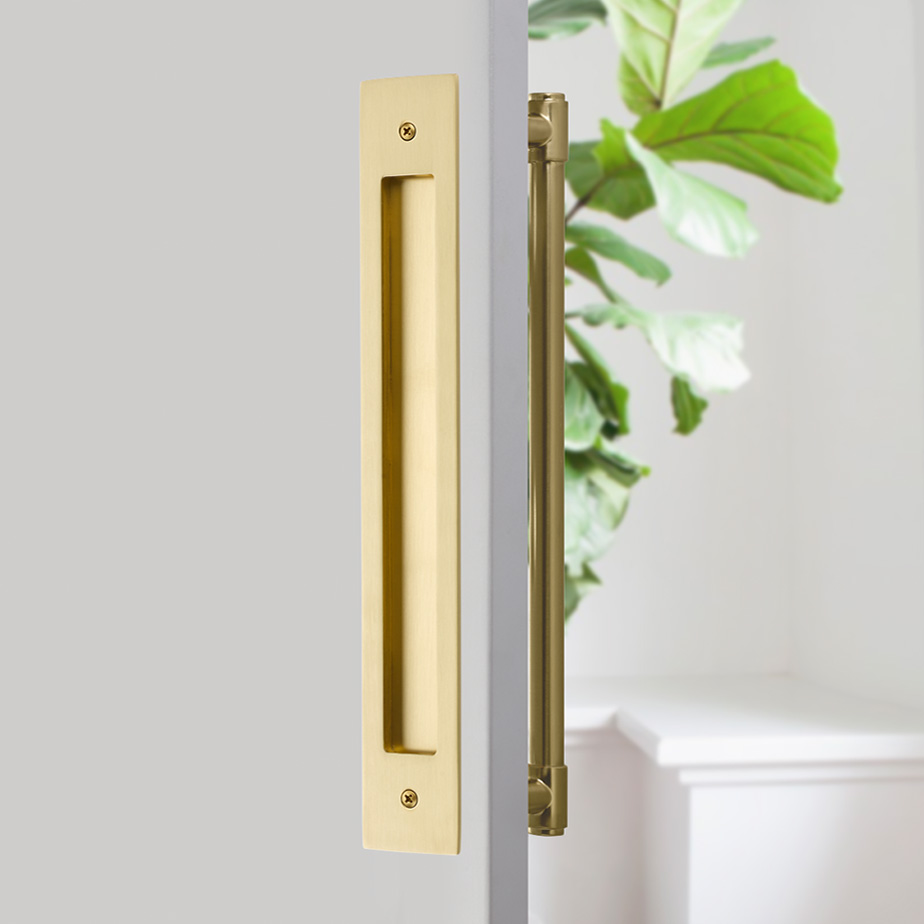 Modern Rectangular Flush Pull For 12 C To C Appliance Pull Emtek Products Inc Sliding Door Handles Appliance Pull Barn Door Handles