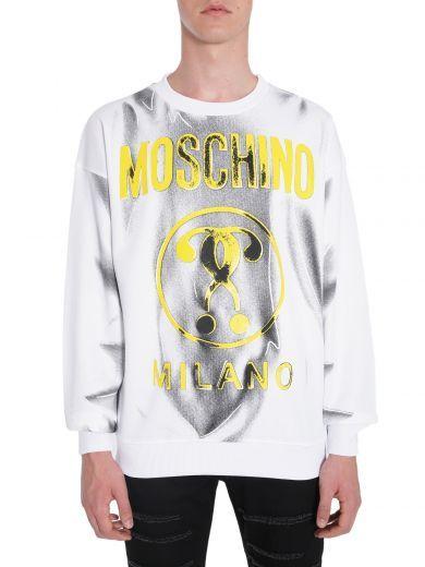 MOSCHINO Felpa Stampa Shadows. #moschino #cloth #fleeces-tracksuits