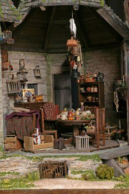 Harry Potter--Hagrid's hut. This is a great blog with lots of links to other amazing miniatures.