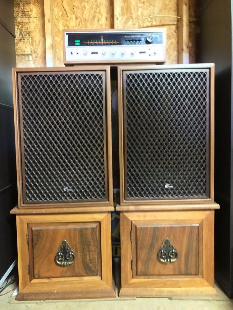 Vintage Walnut Sansui 5000X Stereo SP-3000 Speaker w/ Custom