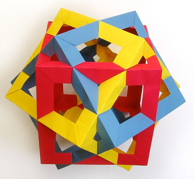 Photo of Compound of 3 Cubes (3-fold axis)