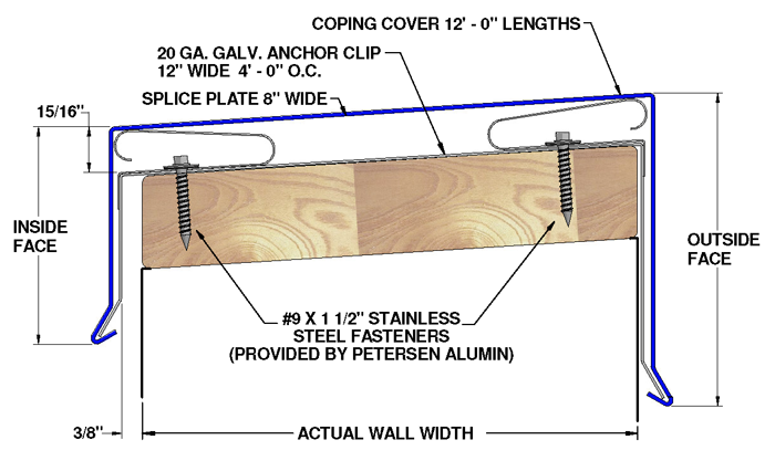 PAC CLAD PARAPET COPING